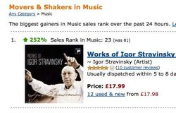 Amazon.co.uk Movers & Shakers: The biggest gainers in Music sales rank over the past 24 hours._1233066784318