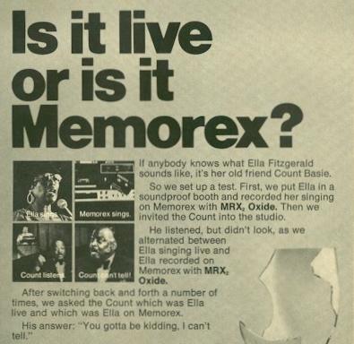 Memorex ad