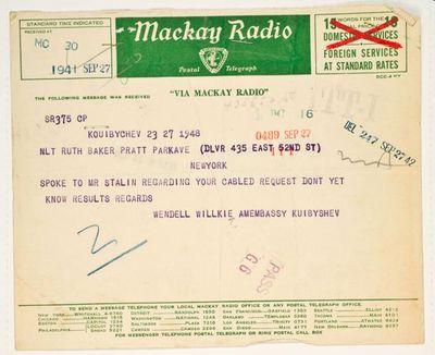 Shostakovich telegram