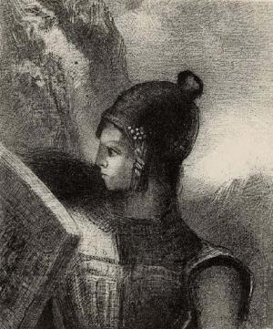 Redon-Odilon-Brunnhilde-1886-lithograph-BM