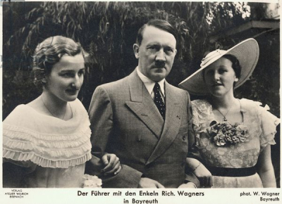 Hitler with Verena and Friedelind