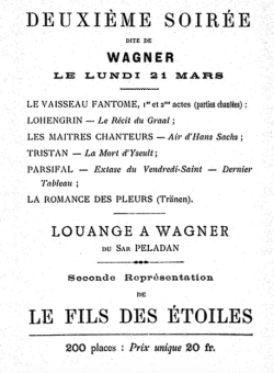 Péladan Wagner soirée